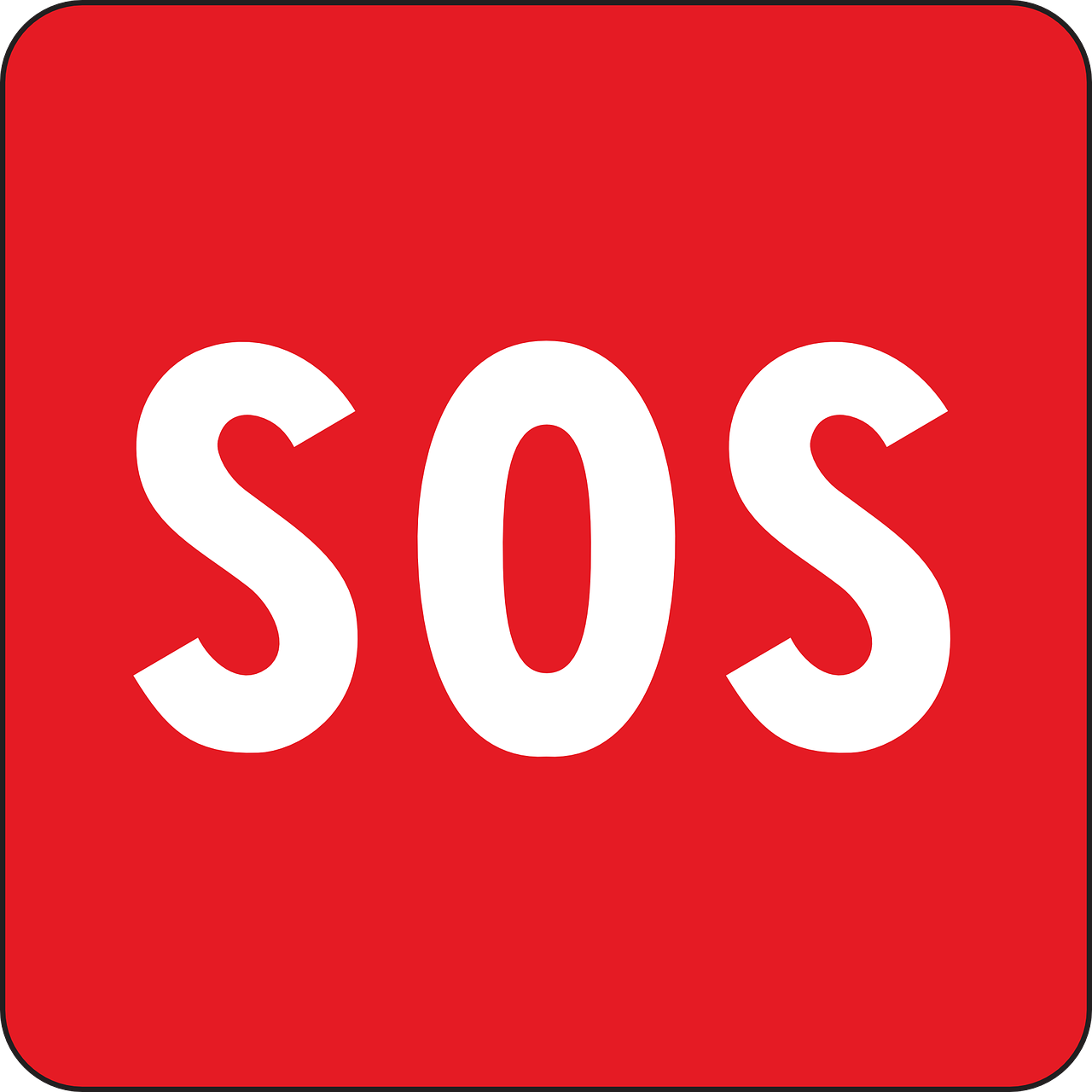 image of SOS / help